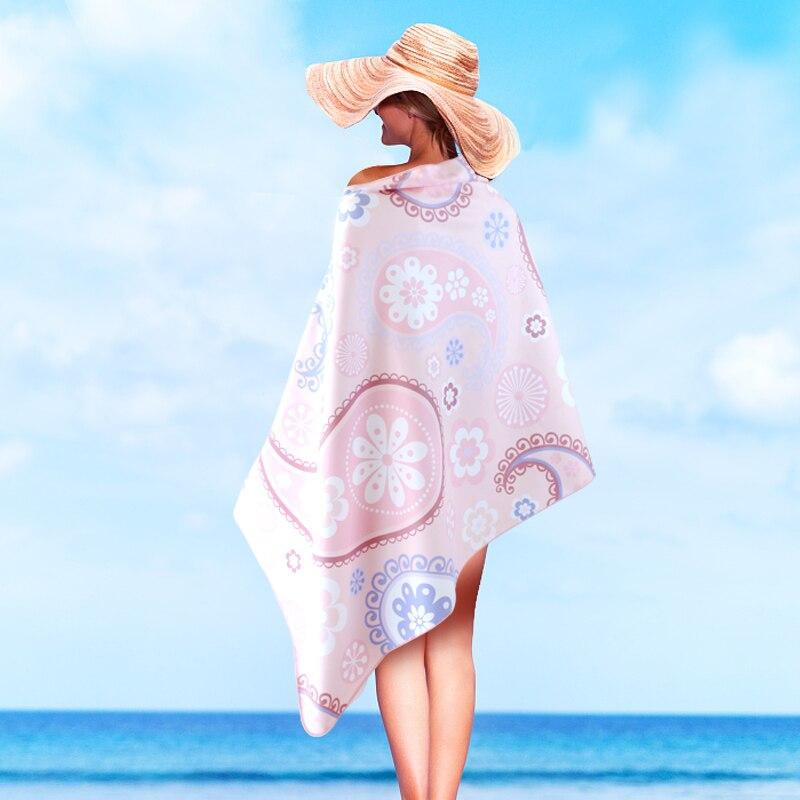 Printemps chaud natation serviette de bain Absorption d'eau séchage rapide Absorption de sueur mâle femelle adulte serviette de plage exercice enfants B6T