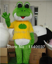 mascot Cartoon Style Green Frog Mascot Costume Adult size Lovely Green Little Frog Mascotte Outfit Suit Fancy Dress