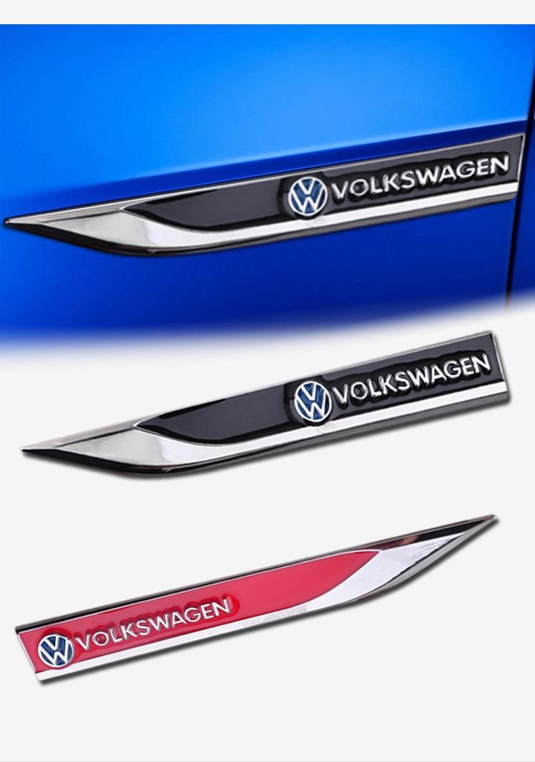 Free Shipping 3D metal car door fender sticker door sticker for Das Auto for VW Volkswagen 1 pair