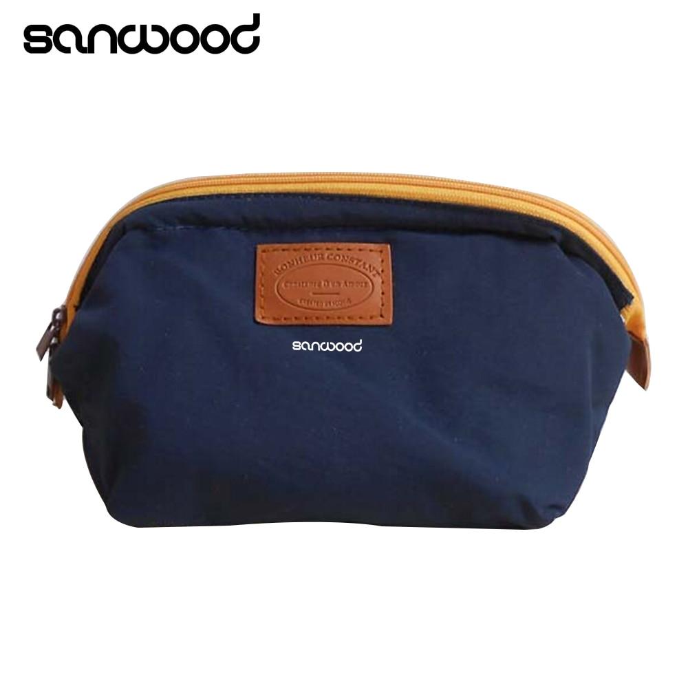 купить 4 colors Waterproof Nylon Beauty Travel Cosmetic Bag Makeup Case Make up Pouch Toiletry Cosmetic Cases по цене 144.83 рублей