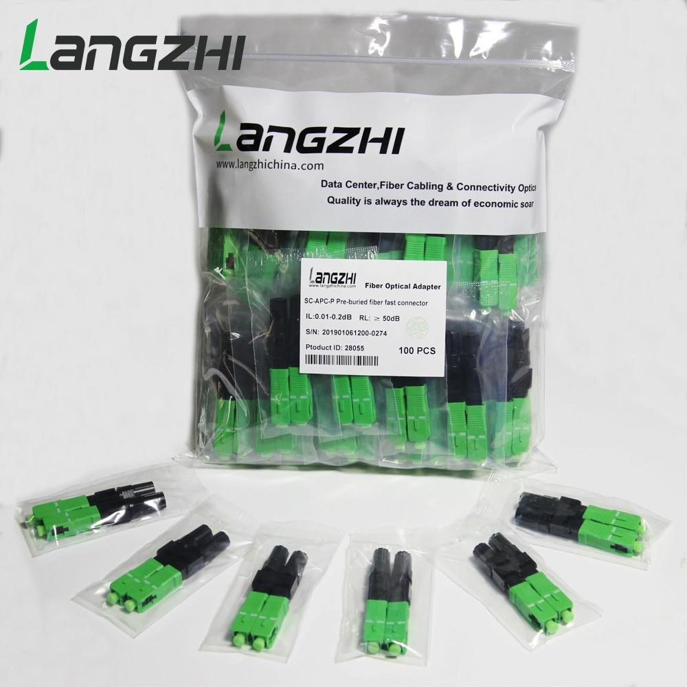 200 pièces/boîte FTTH SC APC fibre optique monomode SC APC connecteur rapide SC APC FTTH fibre optique connecteur rapide livraison gratuite