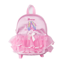 dance bag pink ballet bags for girls ruffle embroidery backpack ballerina sports gym bags for child цена