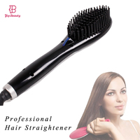 TOP BEAUTY Hair Comb Hair Straightener Brush Irons LCD Display Ceramic Electric Degital Control Hair Care Scalp Massage Tools