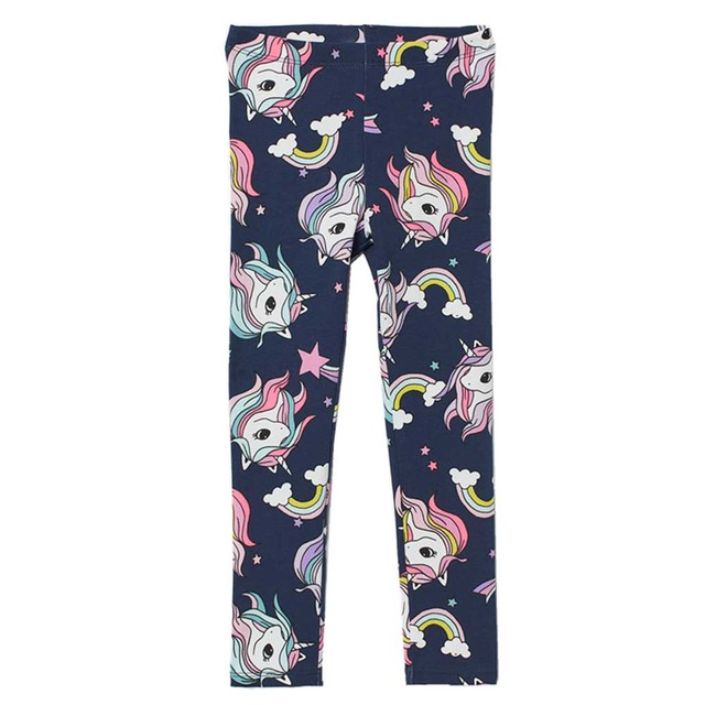 Girls' Colorful Printed Cotton Pants