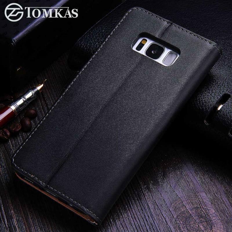 TOMKAS Kasus Untuk Samsung Galaxy S8 PU Dompet Kulit Penutup Bisnis - Aksesori dan suku cadang ponsel - Foto 4