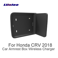 Liislee For Honda CRV 2018 Wifi Charger Storage Car Quick Charge Fast Mobile Phone Car Charger Central Store Content Box