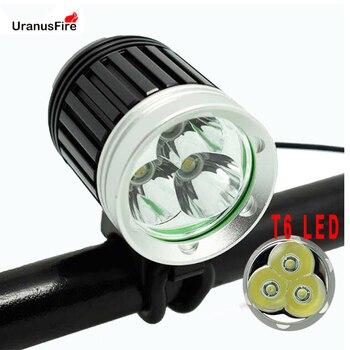 Uranusfire XML 3*T6 Bike Light 3000lm Waterproof T6 LED Bicycle Headlight Lamp Flash light DC charing Bicycle Head front light sitemap 165 xml