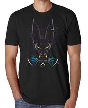 Dragon Ball Z Beerus Efeito de Tinta T-Shirt Splat Unisex Anime T-Shirt CABEÇA-COLOR(China)