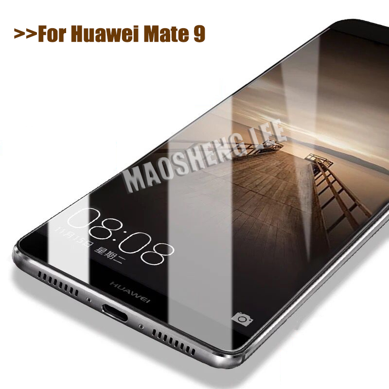 Image 1 - 2pcs Tempered Glass For Huawei Mate 9 Glass Screen Protector 9H Anti Blu ray Glass Protective film 5.9 inch For huawei mate 9-in Phone Screen Protectors from Cellphones & Telecommunications