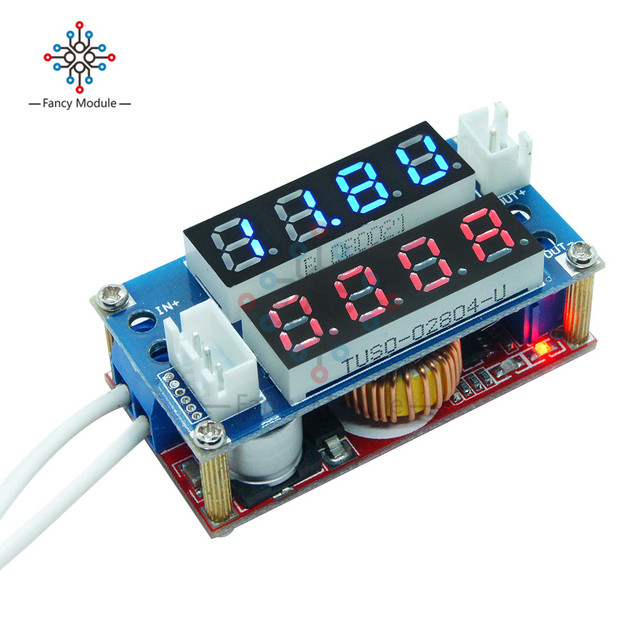 5PCS 5A Adjustable Power Charge Module LED Driver With Red Voltmeter Step-down