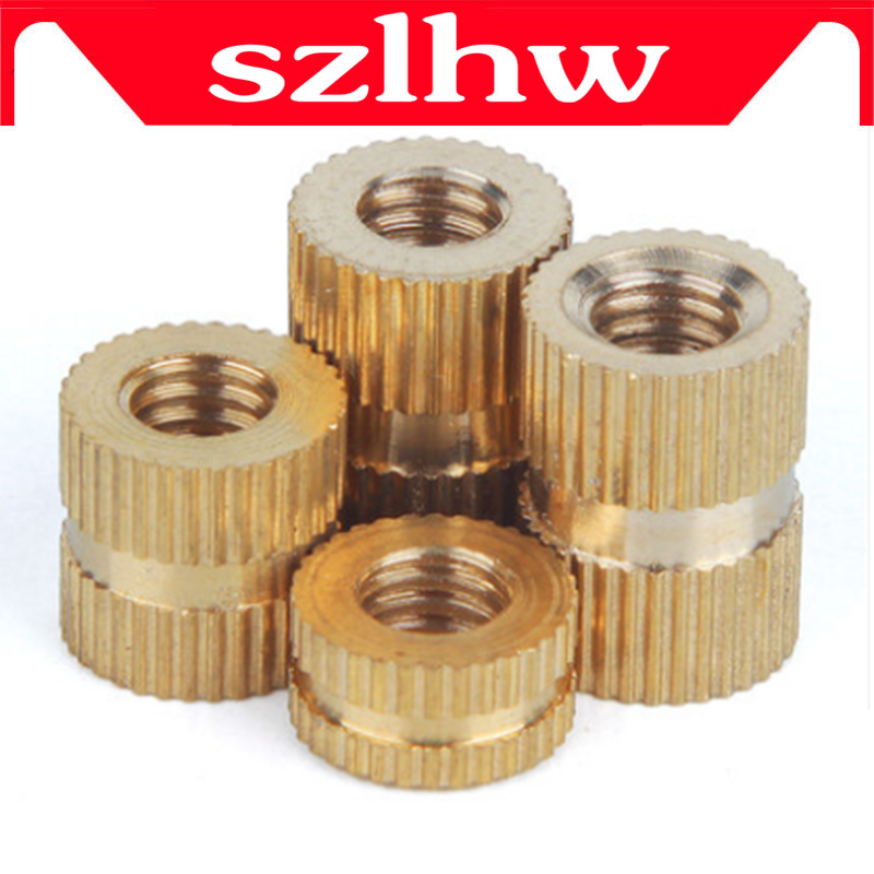 High quality 100pcs/lot Brass insert M2 M2.5 M3 Through thread brass insert nut / knurled nuts for injection moulding зарядное устройство для аккумулятора elitech упз 600 540