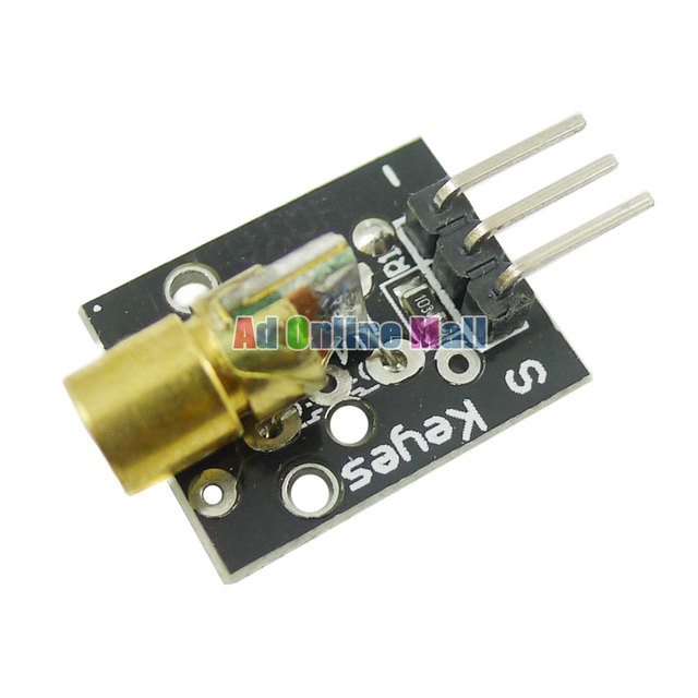 KY-008 650nm 5V Laser Sensor Module for Arduino With Demo Code