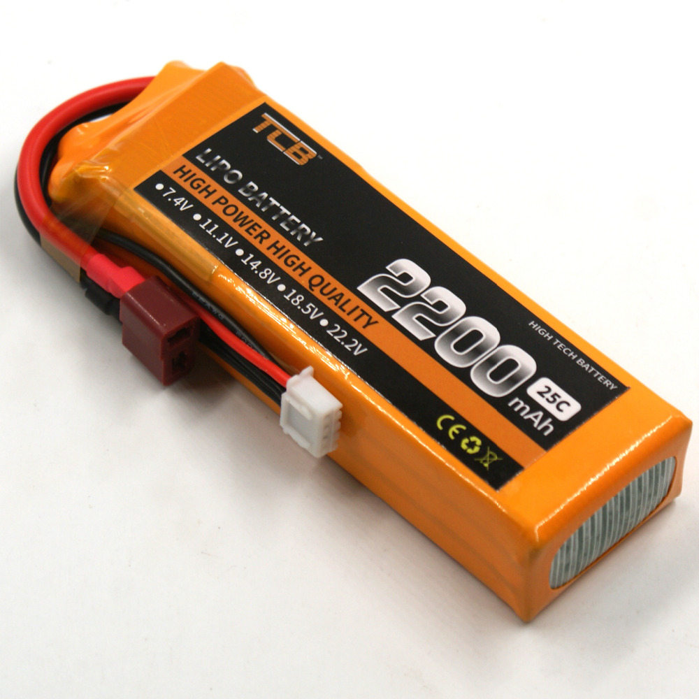 TCB RC LiPo Battery 11.1v 2200mAh 25C 3s Li-Po Batteries for Trex-450 Fixed-wing RC Helicopter Car Boat Quadcopter 3S AKKU