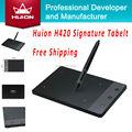 Huion H420 4 дюймов Цифровой Таблетки Подпись Pen Tablet Графика Планшет для рисования Графики Доски Дети Планшет С МИНИ USB новый