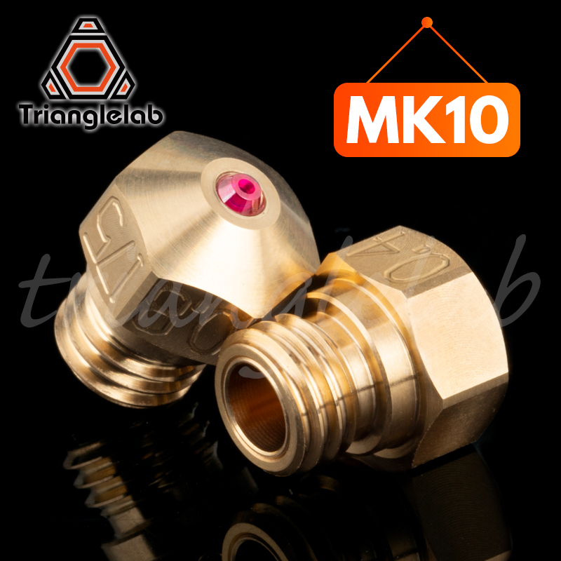 trianglelab high temperature MK10 Ruby Nozzle Thread M7 for Micro Swiss MK10 HOTEND HEATER BLOCK with