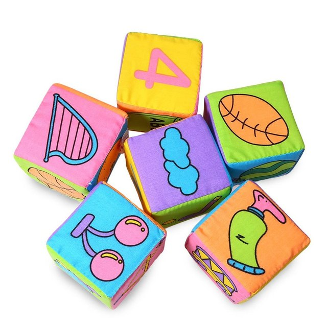 Multifunctional Baby Cloth Building Blocks Rattle Soft Play Cubes