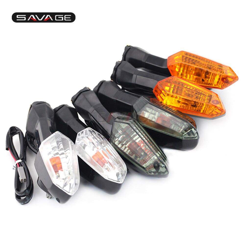 Para KAWASAKI Z125 Z250 Z300 Z750 Z800 Z1000 VERSYS 650/1000 ER-6N ZRX1200 Motocicleta Turn Signal Indicator Light Lâmpada Lente