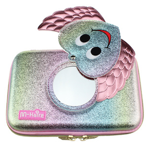 Image 4 - new kawaii Lovely pencil case for girls school pen box mirror pencil bag pen container eva material ribbon sequin stationery bag