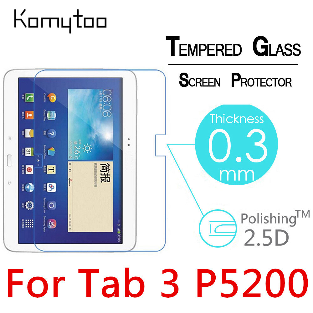 P5200 9H 2.5D 0.3mm Explosion-Proof Toughened Tempered Glass For Samsung Galaxy Tab 3 P5200 10.1 Film Clear Screen Protect Cover