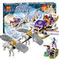 318 pcs novo bela 10413 aira é pegasus trenó modelo bonito blocos de construção dragão fadas brinquedos educativos compatíveis com lego elfos