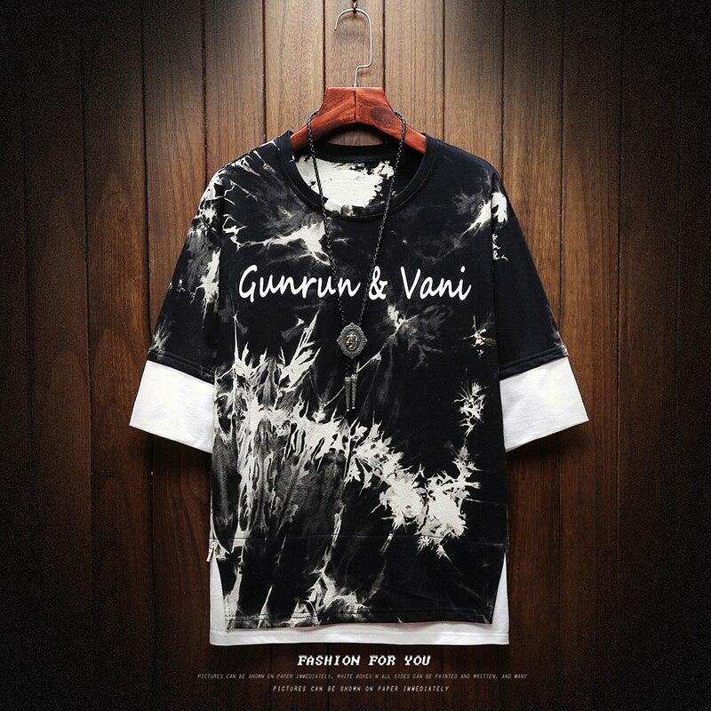 2019 NEW T shirt men Harajuku Streetwear funny fashion t shirt men T shirt hip-hop shirt summer men's t-shirt M-5XL 1