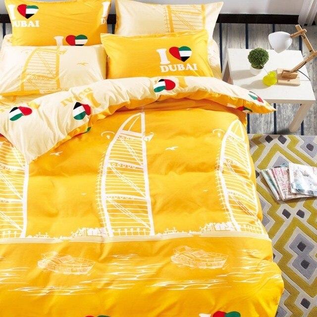 Morpheus Hot Warm Color Bedding Set High Quality Brief Duvet Cover 4 Pcs Twin