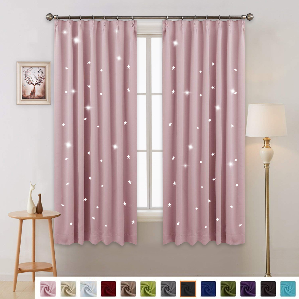 1 Panel Summer Hot Sale Fashio Star Blackout Curtain Japanese Hooks up Drape For Party Decoration &Kitchen&Home& Bedroom
