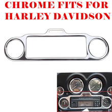 Triclicks Speedometer Rings For Harley Electra Glide Touring Chrome Stereo Accent Trim Ring Cover Motorcycle недорого