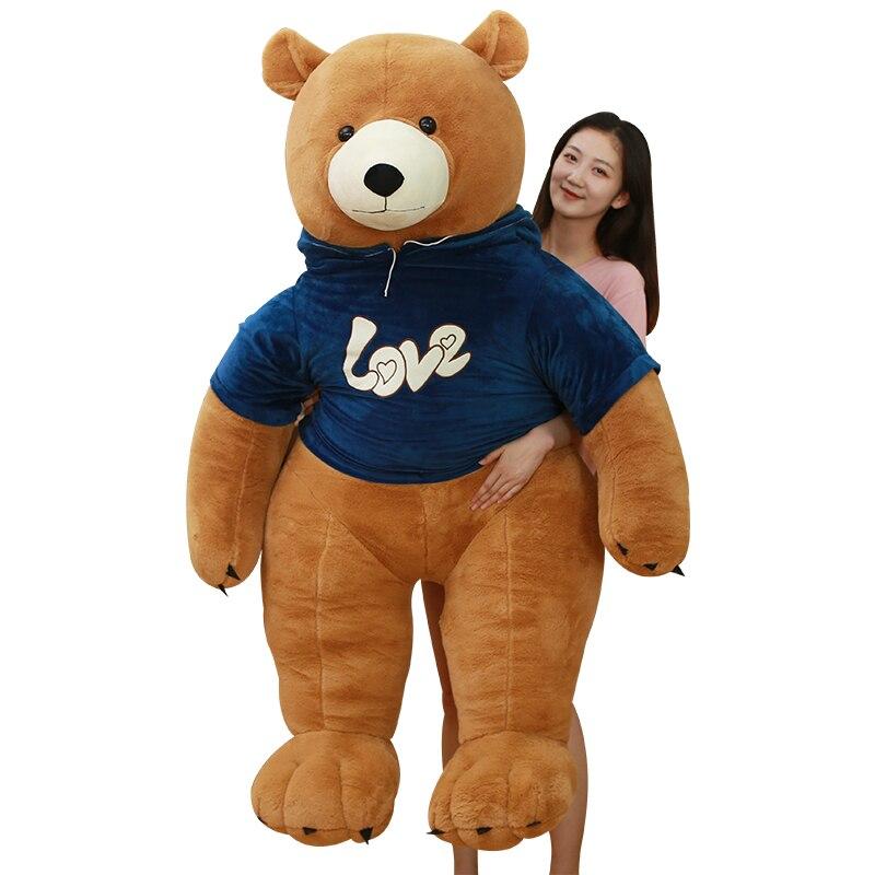 90 cm ours Polaire avec Sweat ours en peluche de peluche Jouets ours en peluche doux Populaire D'anniversaire du Jour de Valentine cadeaux pour Enfants Filles
