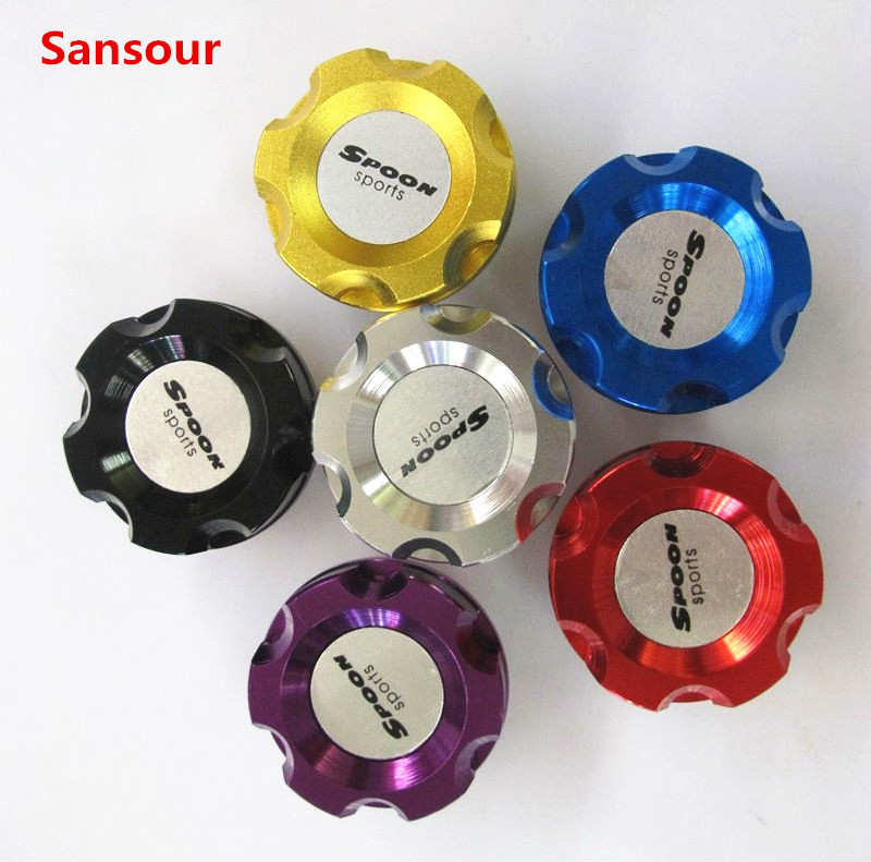 Considerate Sansour Spoon Oil Cap Oil Fuel Filter Racing Engine Tank Cap Cover For Honda Engines