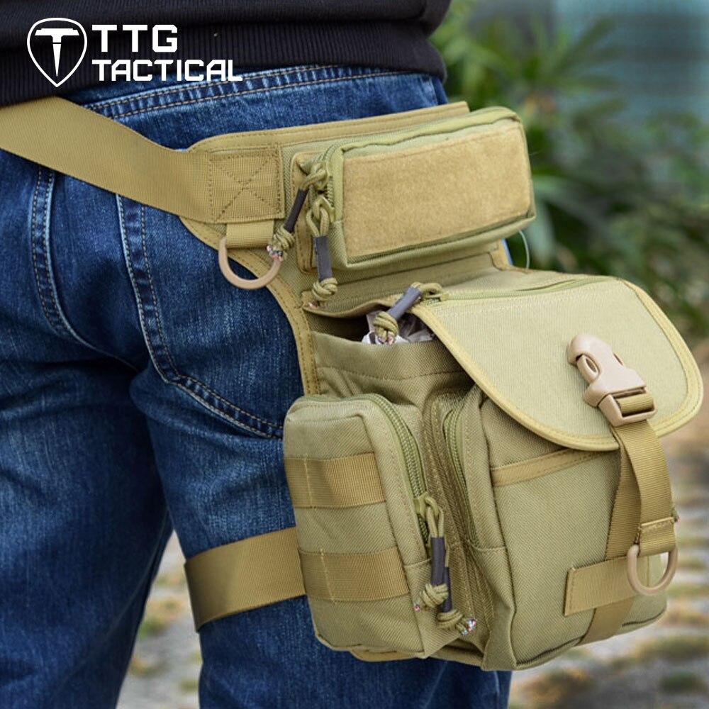 TTGTACTICAL Multi purpose Tactical Drop Leg Bag Tool Fanny Thigh Pack Leg Rig Military Motorcycle Camera