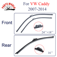 Kit Silicone Rubber Front And Rear Wiper Blades For VW Caddy 2007 2014 Windscreen Wipers Car