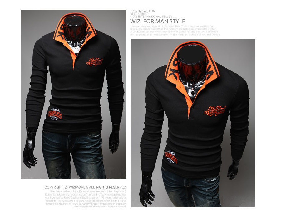 38fa514639a8 And winter Autumn explosion models wholesale new shirt York Polo ...