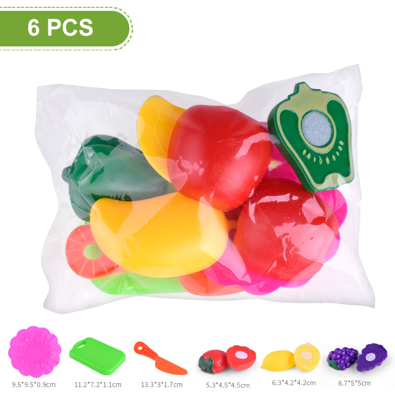 Image 5 - Hot Selling 1 Set Children Pretend Role Play House Toy Cutting Fruit Plastic Vegetables Food Kitchen Toys Gift Fun Game-in Kitchen Toys from Toys & Hobbies