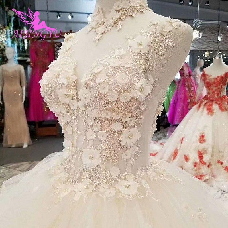 AIJINGYU Simple Dresses Wedding Gowns Cheap Design Light Ball Russian Queen Sexy White Queen Websites Bridal Dress Design