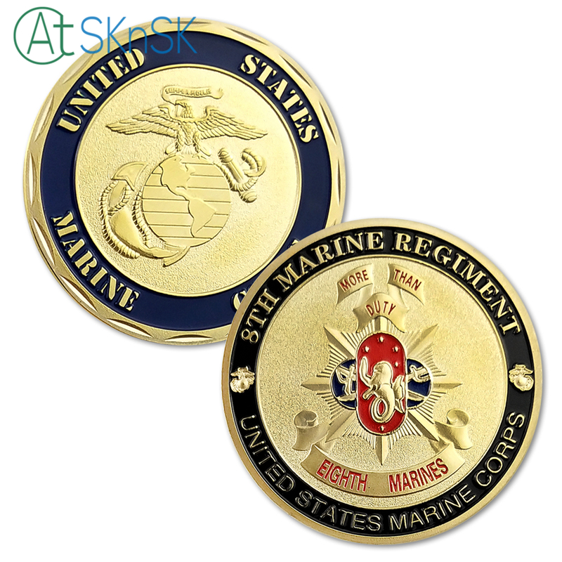 Army, Regiment, USMC, Corps, Coin, Arrival