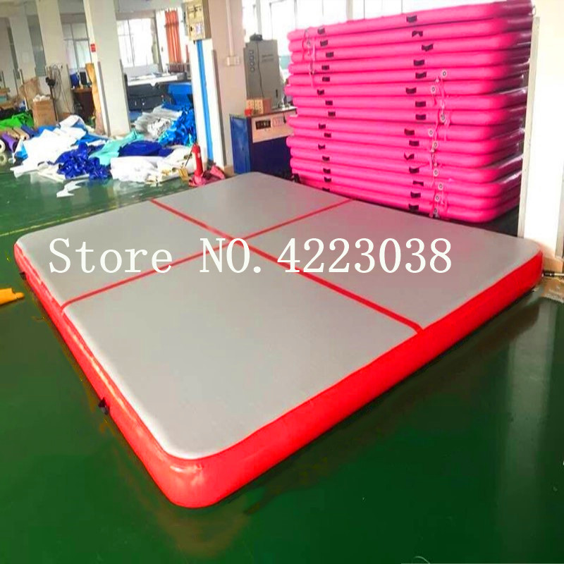 Inflatable Gymnastics AirTrack Tumbling Air Track Floor 1/2/3m Trampoline Electric Air Pump For Home Use/Training/Cheerleading