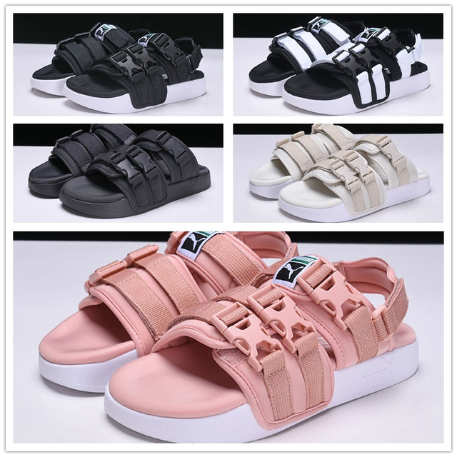 cdbe14640354 2018 PUMA Women s Leadcat YLM HAN KJOBENHAVN Slides men s Beach Sandal shoes  Breathable Badminton Shoes Sneaker 35.5-43