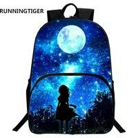 RUNNINGTIGER Children School Bags Galaxy / Universe / Space 24 Colors Printing Backpack For Teeange Girls Boys Star Schoolbags