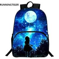 RUNNINGTIGER Kinder Schultaschen Galaxy/Universum/Raum 24 Farben Druck Rucksack Für Teeange Mädchen Jungen Stern Schulranzen-in Schultaschen aus Gepäck & Taschen bei