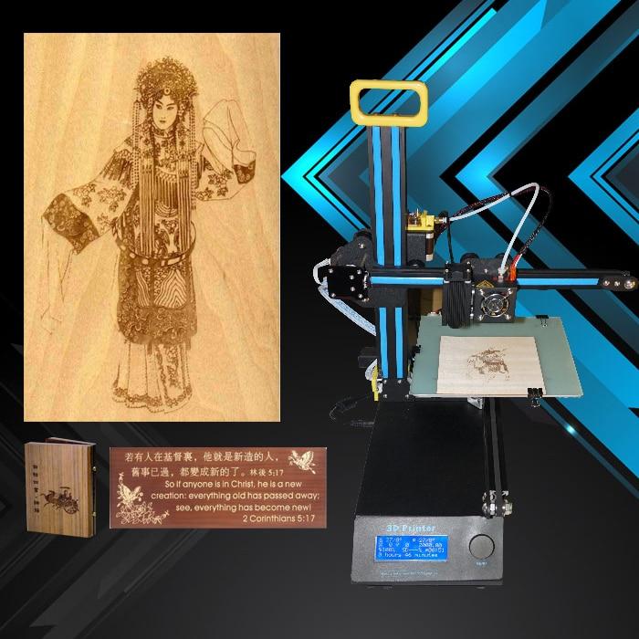 New vesion portable mini laser diy impresora 3d printer for Impresora 3d laser