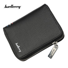 цена на Baellerry Famous Brand Short Handy Men Wallet Purse Male Clutch Bag For Coin Money Leather Wallet Mini card holder Men wallets