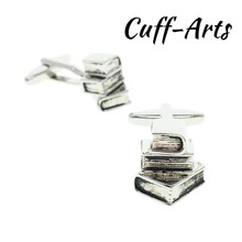 Cufflinks for Men Books  Novelty High Quality Mens Cufflinks Gifts for Men Shirt Cuff links  With Gift Box  by Cuffarts C10194 new arrival fashion letter a d r h m cufflinks the english alphabet cuff links men shirt charm cufflinks with box wholesale