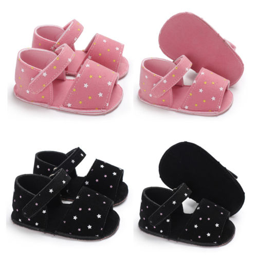 Infant Newborn Baby Boy Girls Soft Sole Summer Pram Shoes Trainers 0-18 Months Baby Girls Simple Sandals Shoes