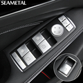 Car Voiture Window Keys ABS Chrome For Mercedes Benz A GLA Class C117 W176 Interior Accessories Decoration Stickers