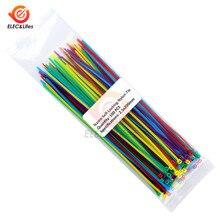 100Pcs 100mm 150mm 200mm Self-locking Nylon Kabelbinder Kunststoff Draht Zip Bindung Wrap Straps 2.5*200 2.5*150 2.5*100 Mix 10 Farbe