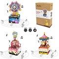 Robotime DIY 3D деревянная карусель колесо обозрения головоломка игра в сборке вращающаяся музыкальная шкатулка игрушка подарок для детей взросл...