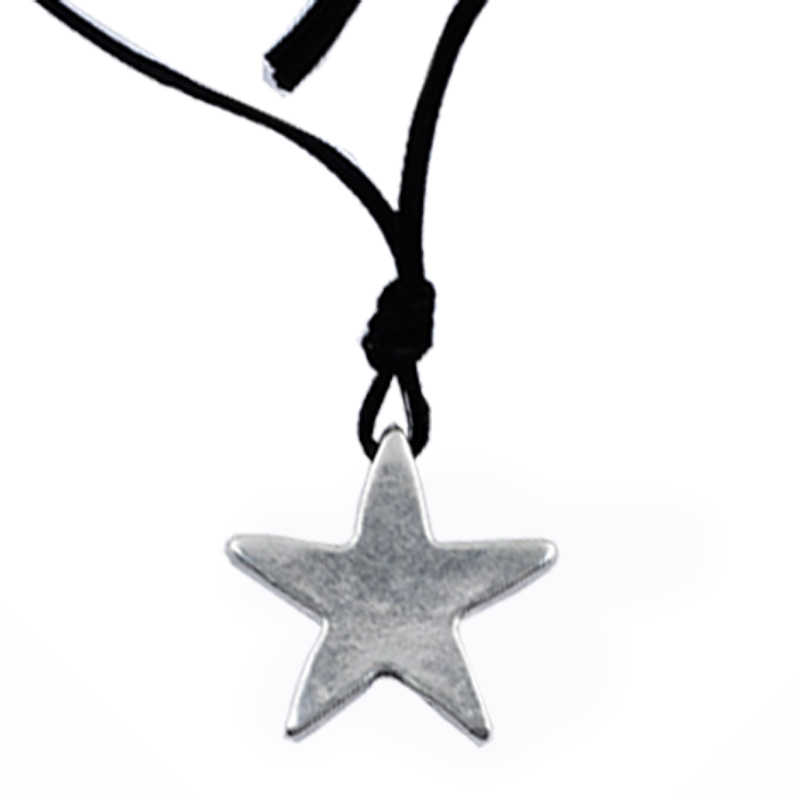 Smooth Pentacle Alloy Pendant Necklace Full Of Female Valentine's Day Gift Fashion Necklace