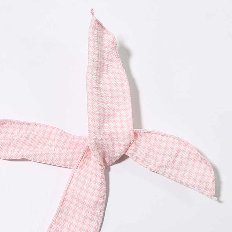Haimeikang милые девушки крест узел DIY резинки для волос Печать шифон цветок женщины тюрбан повязки на голову с заячьими ушками повязка для волос головной убор