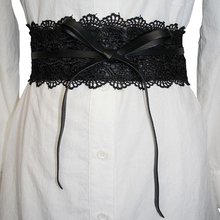 Elastic Lace Black Belts Cummerbund For Women Luxury Brand D